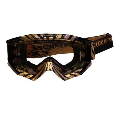 Scorpion Brille Lunette, gold-schwarz