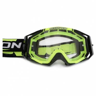 Scorpion Crossbrille Goggle E18, gelb-schwarz
