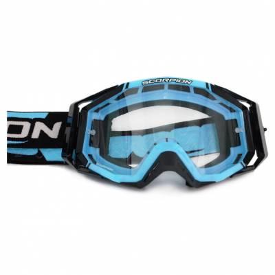 Scorpion Crossbrille Goggle E18, himmelblau-schwarz
