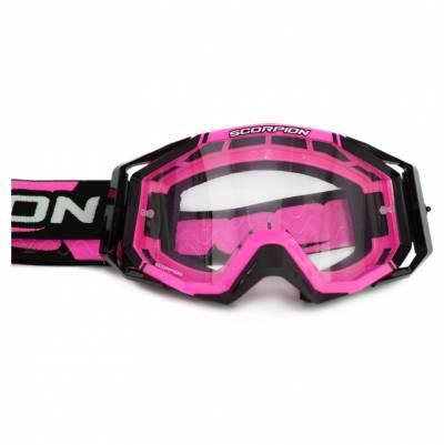 Scorpion Crossbrille Goggle E18, pink-schwarz
