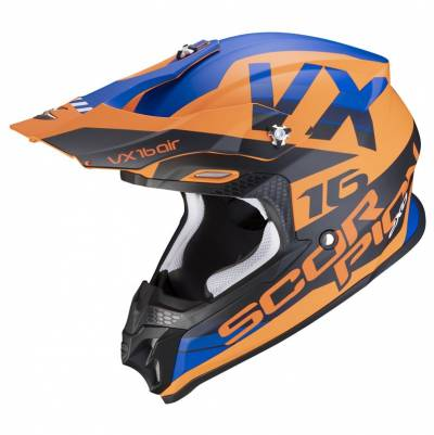 Scorpion Crosshelm VX-16 Air X-Turn, orange-blau matt