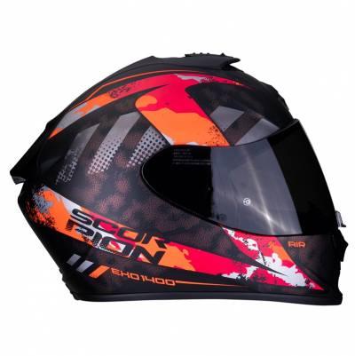 Scorpion EXO-1400 Air Sylex, schwarz-rot-silber matt