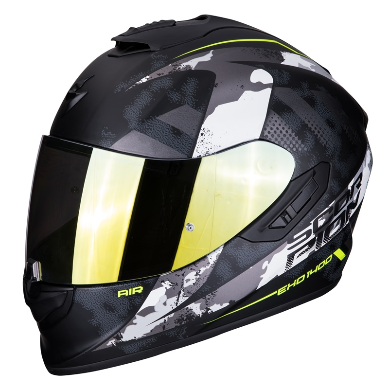 Scorpion EXO-1400 Air Sylex, schwarz-weiß-fluogelb matt