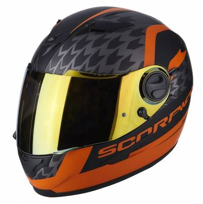 Scorpion EXO-490 Genesi, schwarz-orange matt