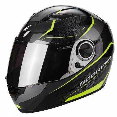 Scorpion EXO-490 Vision, schwarz-fluogelb