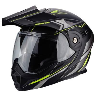 Scorpion Helm ADX-1 Anima, matt schwarz-neongelb