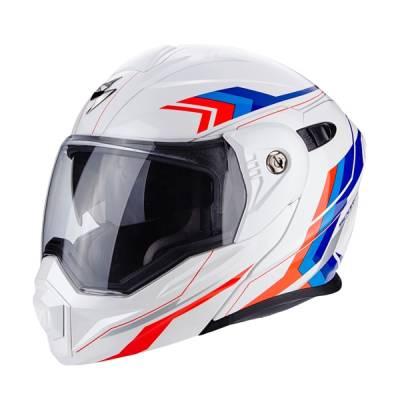 Scorpion Helm ADX-1 Anima, weiß-rot-blau