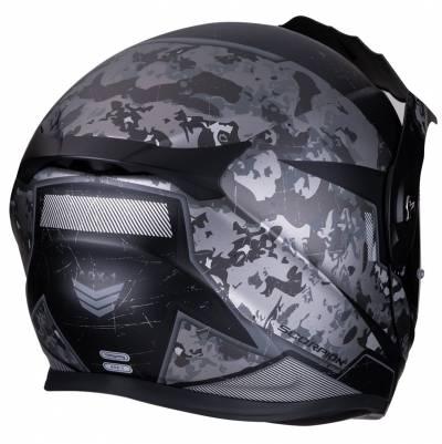 Scorpion Helm ADX-1 Battleflage, schwarz-silber matt