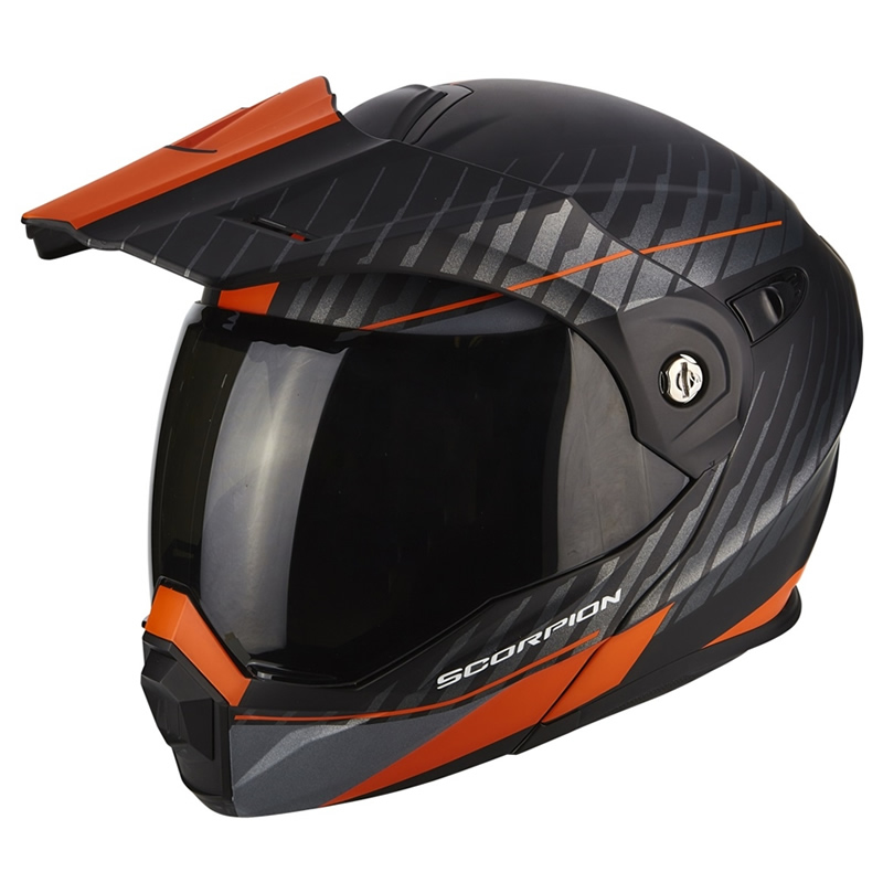 Scorpion Helm ADX-1 Dual, matt schwarz-orange
