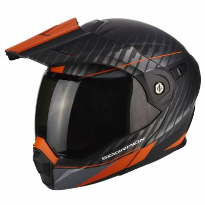 Scorpion Helm ADX-1 Dual, matt schwarz-orange