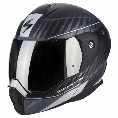 Scorpion Helm ADX-1 Dual, matt schwarz-silber