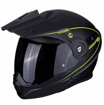 Scorpion Helm ADX-1 Horizon, schwarz-fluogelb matt