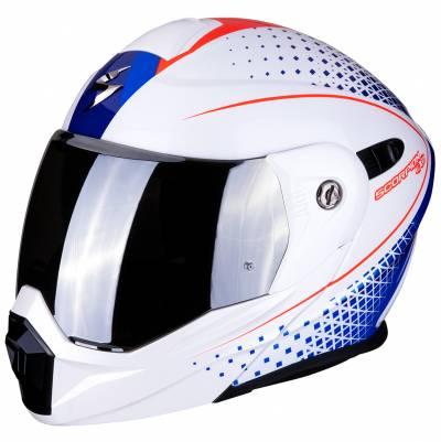 Scorpion Helm ADX-1 Horizon, weiß-blau-rot