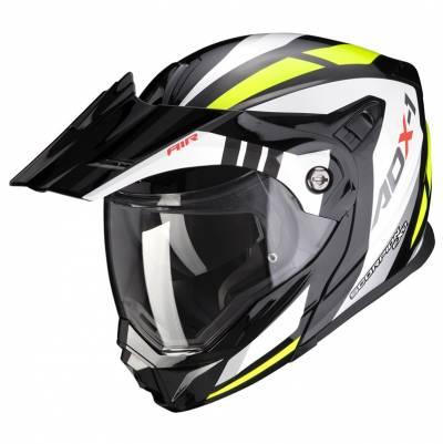 Scorpion Helm ADX-1 Lontano, schwarz-fluogelb-weiß