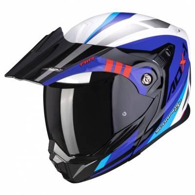 Scorpion Helm ADX-1 Lontano, weiß-blau-rot