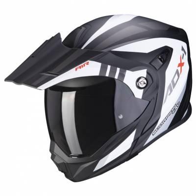 Scorpion Helm ADX-1 Lontano, weiß-schwarz matt