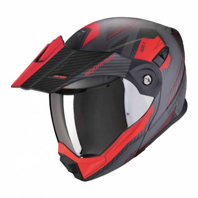 Scorpion Helm ADX-1 Tucson, zementgrau-rot matt