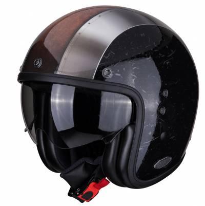 Scorpion Helm Belfast Byway, schwarz-silber-braun