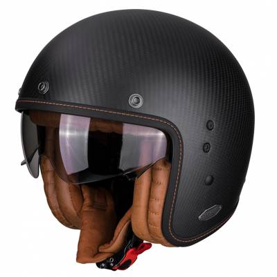 Scorpion Helm Belfast Carbon, schwarz matt