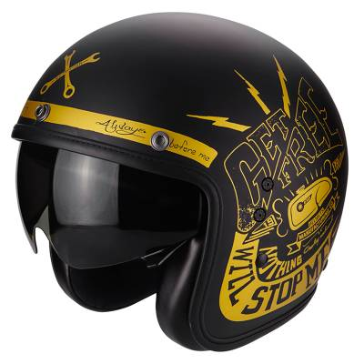 Scorpion Helm Belfast Fender, schwarz-gold matt