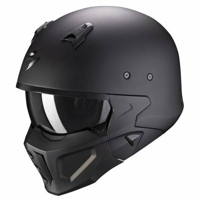 Scorpion Helm Covert-X Solid, schwarz matt