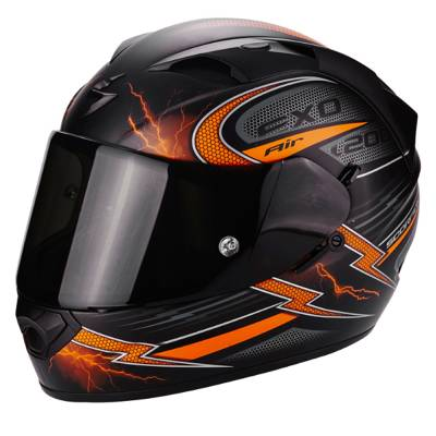 Scorpion Helm Exo-1200 Air Fulgur, matt-schwarz-orange