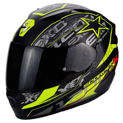 Scorpion Helm Exo-1200 Air Solis, schwarz-fluogelb