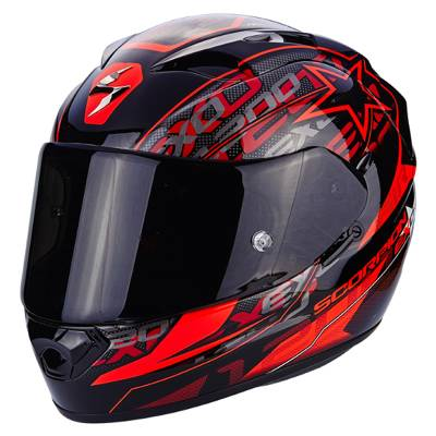 Scorpion Helm Exo-1200 Air Solis, schwarz-rot