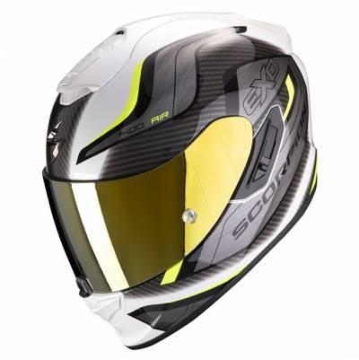 Scorpion Helm Exo-1400 Air Attune, weiß-fluogelb