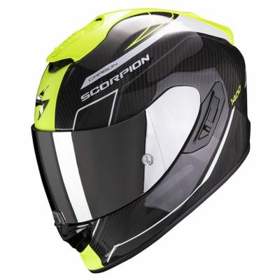 Scorpion Helm Exo-1400 Air Carbon Beaux, schwarz-fluogelb
