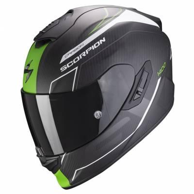 Scorpion Helm Exo-1400 Air Carbon Beaux, schwarz-grün matt