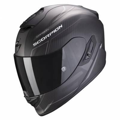 Scorpion Helm Exo-1400 Air Carbon Beaux, schwarz-silber matt