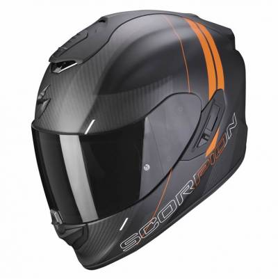Scorpion Helm Exo-1400 Air Carbon Drik, schwarz-orange matt