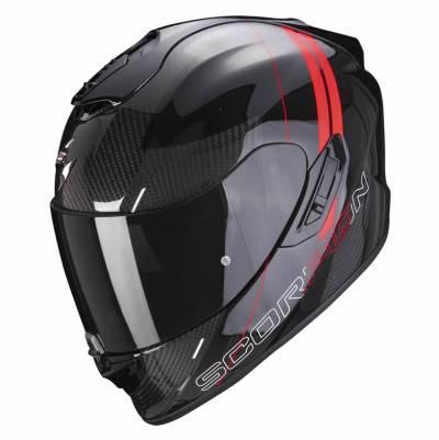 Scorpion Helm Exo-1400 Air Carbon Drik, schwarz-rot