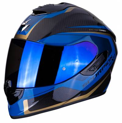 Scorpion Helm EXO-1400 Air Carbon Esprit, schwarz-blau-gold