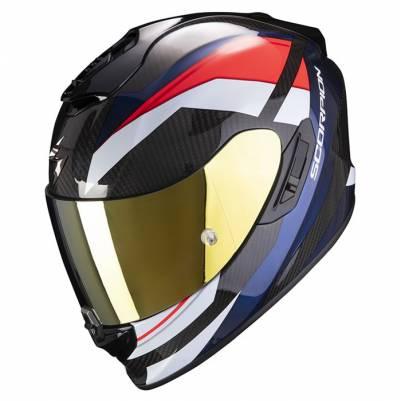 Scorpion Helm Exo-1400 Air Carbon Legione, rot-blau