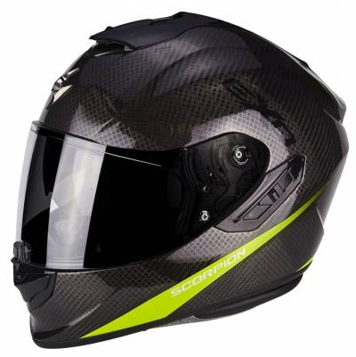 Scorpion Helm EXO-1400 Air Carbon Pure, schwarz-fluogelb