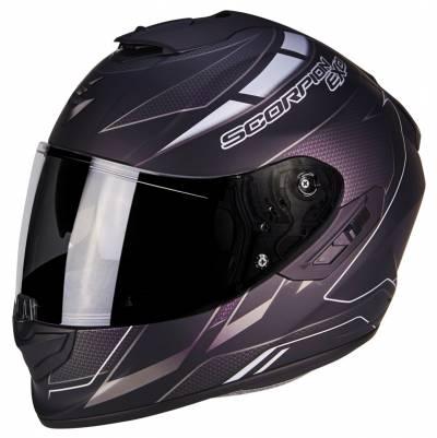 Scorpion Helm EXO-1400 Air Cup, matt schwarz-chamaeleon-silber