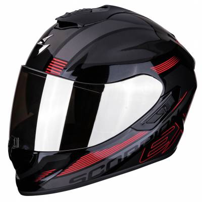 Scorpion Helm EXO-1400 Air Free, schwarz-rot