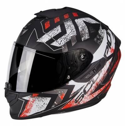 Scorpion Helm EXO-1400 Air Picta, matt schwarz-weiß-fluorot