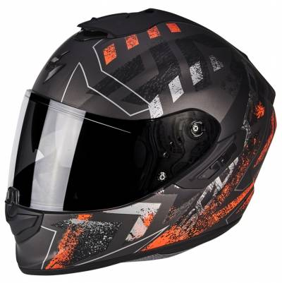 Scorpion Helm EXO-1400 Air Picta, matt silber-orange