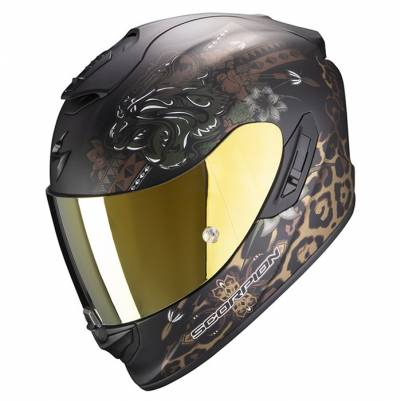 Scorpion Helm Exo-1400 Air Toa, schwarz-gold matt