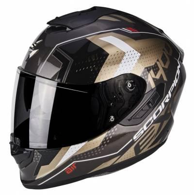 Scorpion Helm EXO-1400 Air Trika, gold-schwarz