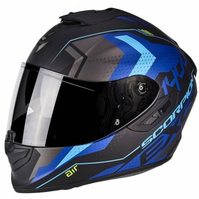 Scorpion Helm EXO-1400 Air Trika, matt schwarz-blau