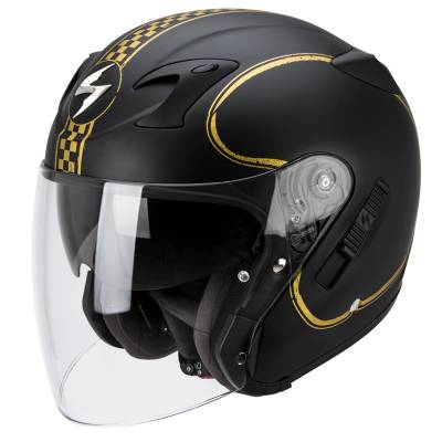 Scorpion Helm Exo-220 Bixby, schwarz-gold-matt