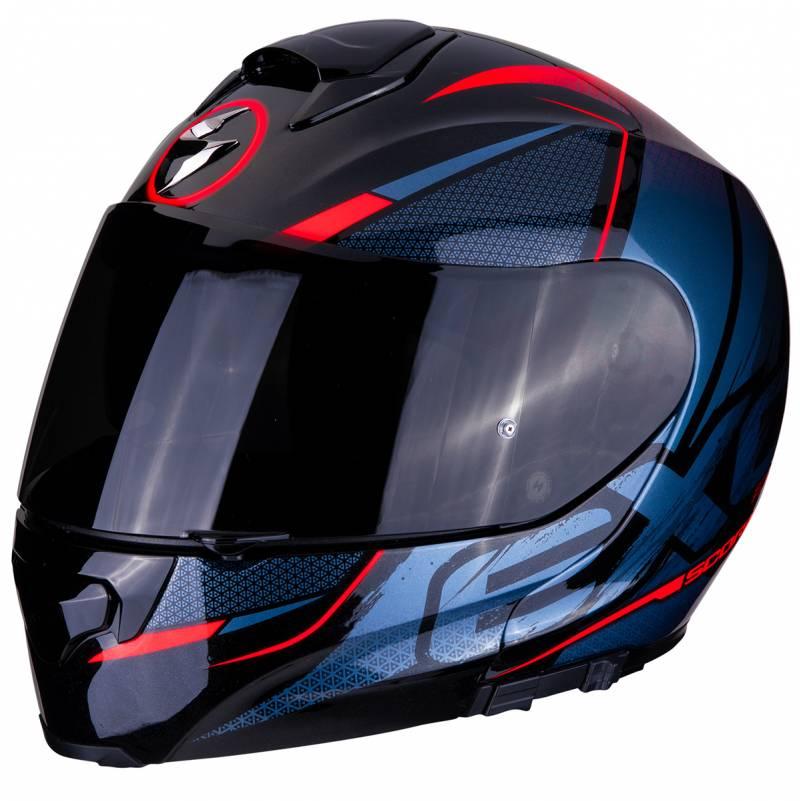 Scorpion Helm Exo-3000 Air Creed, schwarz-blau-rot