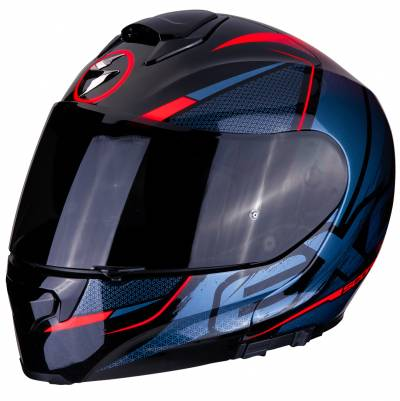 Scorpion Helm Exo-3000 Air Creed, schwarz-blau-rot