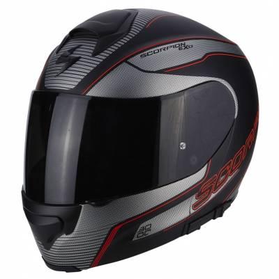 Scorpion Helm EXO-3000 Air Stroll, matt schwarz-silber-rot