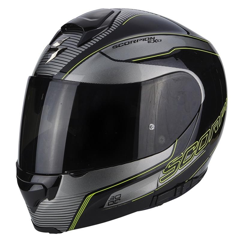 Scorpion Helm EXO-3000 Air Stroll, schwarz-silber-fluogelb