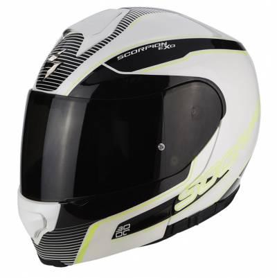 Scorpion Helm EXO-3000 Air Stroll, weiß-schwarz-fluogelb